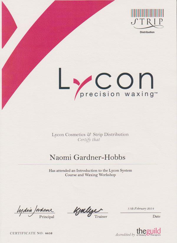 naomi certificates waxing larger them